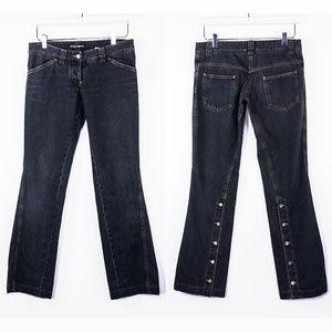 Dolce&Gabbana Flare Black Back Split Jeans Sz 40 6